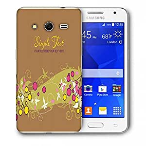 Snoogg Simple Text Brown Printed Protective Phone Back Case Cover For Samsung Galaxy Core 2 / Core II G355H