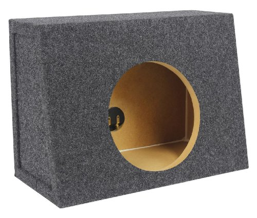 """Rockville Rsst8 Single 8"""" 0.44 Cu. Ft. 3/4"""" Mdf Sealed Shallow Subwoofer Enclosure Box - Constructed Using Grade """"A"""" 3/4"""" Mdf Wood, Proudly Assembled By Hand In The Usa!"""