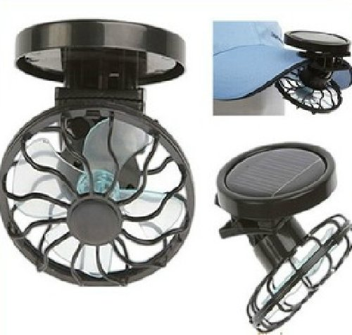 Clip-On Solar Cell Fan Sun Power Energy Panel Cooling Cooler For Travelling T7