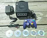 Nintendo Gamecube System Console Lot Bundle with Games Platinum Indigo Jet Black