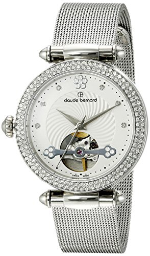 Claude-Bernard-Womens-85023-3PM-APN-Dress-Code-Analog-Display-Swiss-Automatic-Silver-Watch