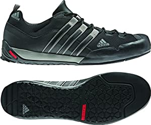 adidas Outdoor Terrex Swift Solo Approach Shoe - Men's Black/Mid Cinder/Solid Grey 11.5