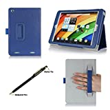 ProCase Acer Iconia A1-830 Tablet Case with bonus stylus pen - Flip Stand Folio Cover for Acer Iconia A1-830 Android Tablet (2014 released), Corner Protected, with Stand and Hand Strap (Navy, Dark Blue)