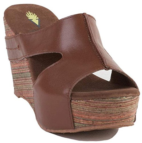 Volatile Women'S Timora Wedge Sandal,Tan,9 B Us front-568019