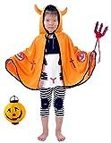 3world お子様 100~120cm コスチューム デビル 衣装 マント 小物 セット SW521 オレンジ