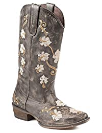 Roper Women's Floral Embroidery Cowgirl Boot Snip Toe