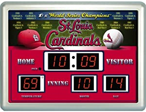 MLB St. Louis Cardinals Scoreboard by Team Sports America