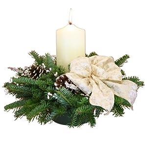 Worcester Wreath Winter Elegance Pillar Candle Maine Balsam Centerpiece