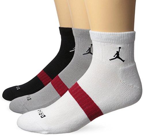 Nike Jordan Dri-Fit Low Quarter 3 Pack Socks 546480 100