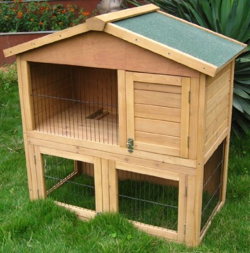 3ft Chalet Rabbit / Guinea Hutch Hutches run runs Mini-Chalet + FREE HUTCH COVER!!