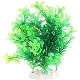 FACILLA® Verte Plante Artificielle Aquatique en Plastique Vert Déco pour Aquarium