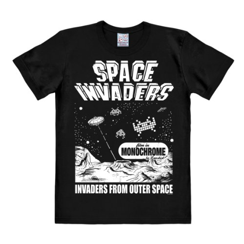 LOGOSHIRT Men's Space Invaders - From Outer Space Short
