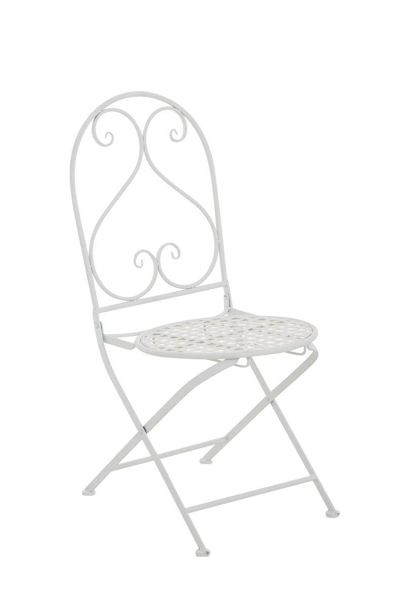 CLP nostalgischer Eisen-Klappstuhl VAHAN (aus bis zu 6 Farben wählen) weiß
