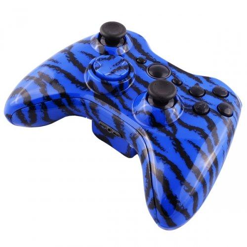 Xbox 360 Wireless Controller - Blue Tiger Camo   Design Xbox 360 Controller Designs