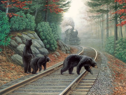 Bear Tracks a 500-Piece Jigsaw Puzzle by Sunsout Inc.