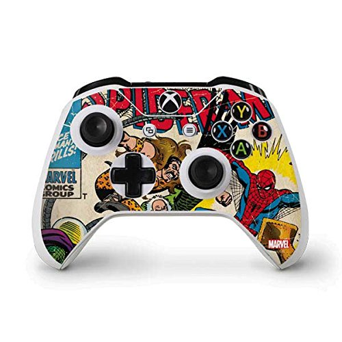 Marvel Comics Xbox One S Controller Skin - Spider-Man vs Sinister Six Vinyl Decal Skin For Your Xbox One S Controller