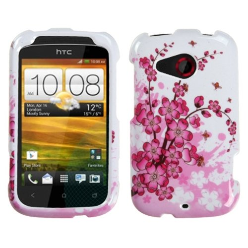 Mybat Htcdesirechpcim025Np Slim And Stylish Protective Case For The Htc Desire C - Retail Packaging - Spring Flowers front-695268
