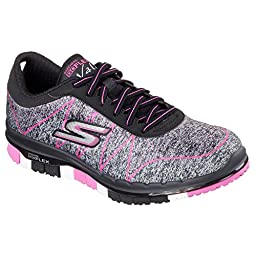 Skechers Performance Women\'s Go Flex - Ability Walking Shoe, Black/Hot Pink, 10 M US