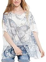 Des Filles a la Vanille Camiseta Manga Corta Chloe (Blanco / Azul Marino)