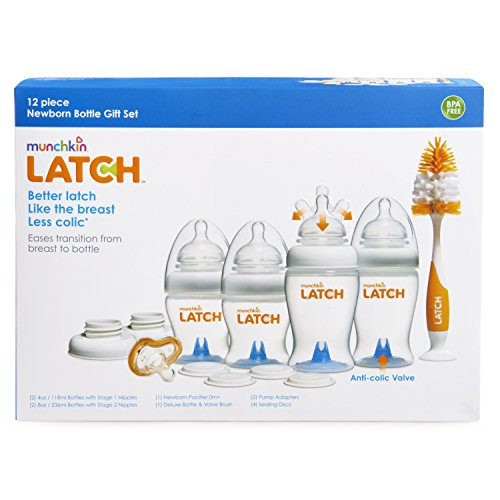 Munchkin Latch Bottle Gift Set for Newborn
