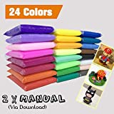 PF Ultra-light Plasticine Modeling Clay Artist Studio Toy, 24 color Clay Set