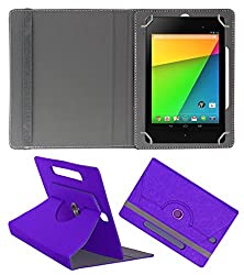 Acm Designer Rotating Case For Asus Google Nexus 7 Fhd 2013 Stand Cover Purple