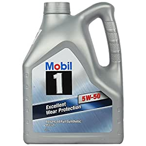 mobil 1 5w 50 fully synthetic oil for cars 4 l amazon. Black Bedroom Furniture Sets. Home Design Ideas