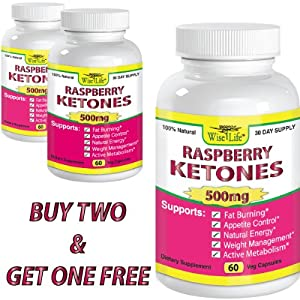Amazon.com: 2+1 FREE Raspberry Ketones Pure & Fresh 500mg ...
