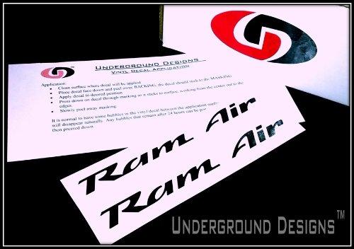 RAM AIR DECALS Firebird Trans Am Formula GTO Hood Stickers 1993-2002 GLOSS BLACK (Ram Air Hood Firebird compare prices)