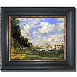 Bassin d\'Argenteuil by Claude Monet Premium Black & Gold Framed Canvas (Ready-to-Hang)
