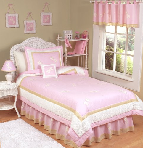 Pink Dragonfly Dreams Girls 3pc Kids Full Queen Bedding Set by JoJo Designs