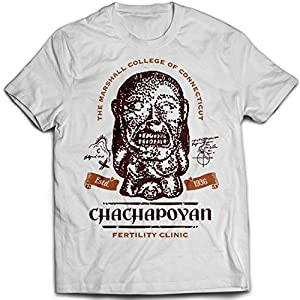 9378w Chachapoyan Fertility Clinic Mens T-Shirt Indiana Jones Pankot Palace Temple Of Doom Crystal Skull Holy Grail Lao Che