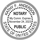 Round Notary Stamp for State of South Carolina- Self Inking Stamp Customized in one day