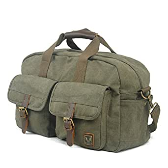 Toupons Modern Canvas Weekender Duffle Bag Overnight Bag for Men Women