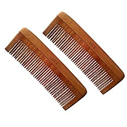 UCS Baby Comb Made of Neem Wood - Medicated & Gentle on Scalp (Set of 2 Baby Combs)