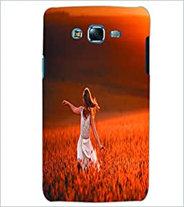 PRINTSWAG HAPPY GIRL Designer Back Cover Case for SAMSUNG GALAXY J5