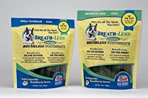 "Brand New GULF COAST NUTRITIONALS, INC. - BREATHLESS TOOTHPASTE TREAT (12 OZ) ""DOG PRODUCTS - DOG TREATS - DENTAL CHEWS"""