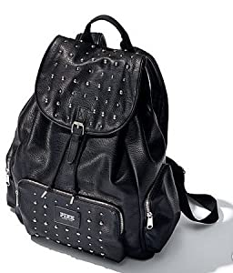 Amazon.com: Victoria's Secret Pink Faux Letaher Studded Black Backpack