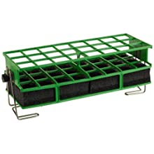 "Barnstead Green Full-Size Test Tube Rack Clamp, 26mm to 30mm, 3"" x 8"" Array"