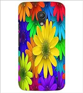 MOTOROLA MOTO G2 COLORFL FLOWERS Designer Back Cover Case By PRINTSWAG
