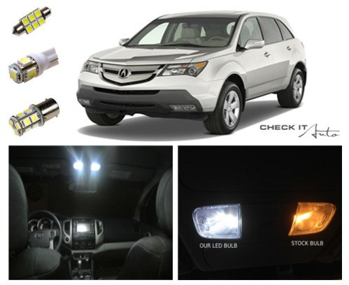 07-13 Acura Mdx Led Package Interior + Tag + Reverse Lights (15 Pieces)