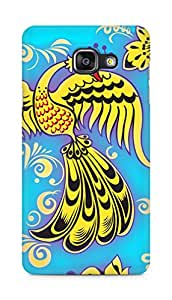Amez designer printed 3d premium high quality back case cover for Samsung Galaxy A5 (2016 EDITION) (Khokhloma ornaments bird color texture)