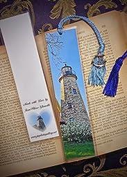 Charlotte- Genesee Cobblestone Lighthouse Rochester New York w/ Anchor Charm Light House Beacon Fine Art Photography Photo Laminated Handmade Bookmark