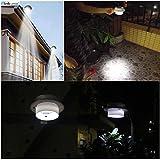 GOESWELL Solarzauber Dachrinnen-Leuchten Solar 3LEDs Powered Lichtsteuerung Outdoor Zaun-Licht und