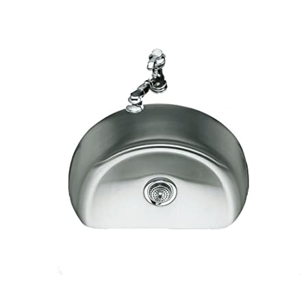 KOHLER K-3186-NA Undertone Medium D-Bowl Kitchen Sink, Stainless Steel