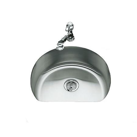 KOHLER K-3186-NA Undertone Medium D-Bowl Kitchen Sink, Stainless Steel