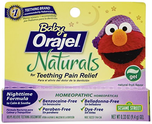 Orajel Baby Naturals Nighttime Teething Gel 0 33 Oz