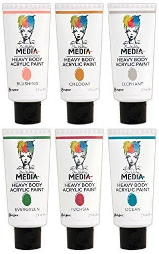 Ranger - Dina Wakley Media - Heavy Body Acrylic Paints - 2016 New Colors Bundle (Dina Wakley Paint compare prices)