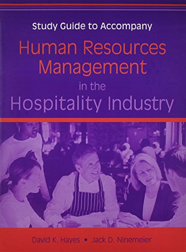 Human Resources Management in the Hospitality Industry: WITH Study Guide