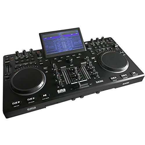 EMB DJC6U Professional Controller DJ MIXER w/ USB/SD Slot - 2 Jog Wheels Scratching + Controlling With TFT Display (Dj Mixers compare prices)